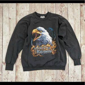 Harley Davidson vintage off black sweatshirt shirt